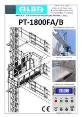 nová závěsná lávka PT ALBA 1800FA/B